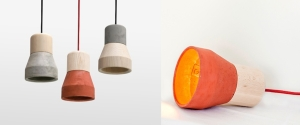 Cement Wood Lamp - Thinkk