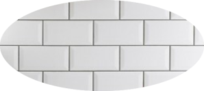 Metro White Wall Tile 20x10cm pattern
